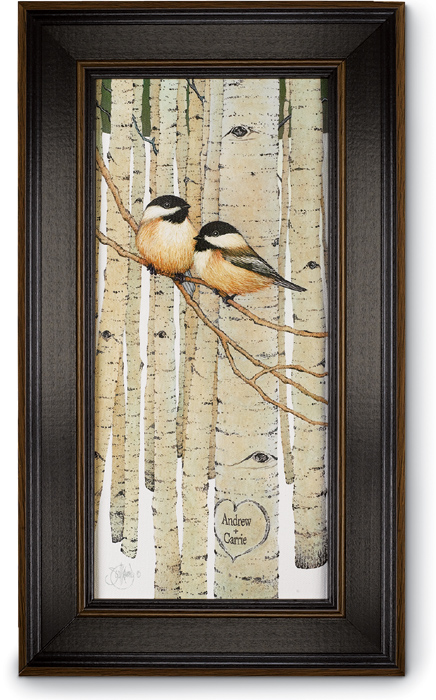 6068: Love Birds Personalized Wall Art (Product Detail)