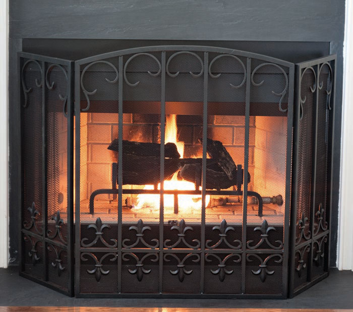 Fleur de Lis Fire Screen - Charleston Gardens
