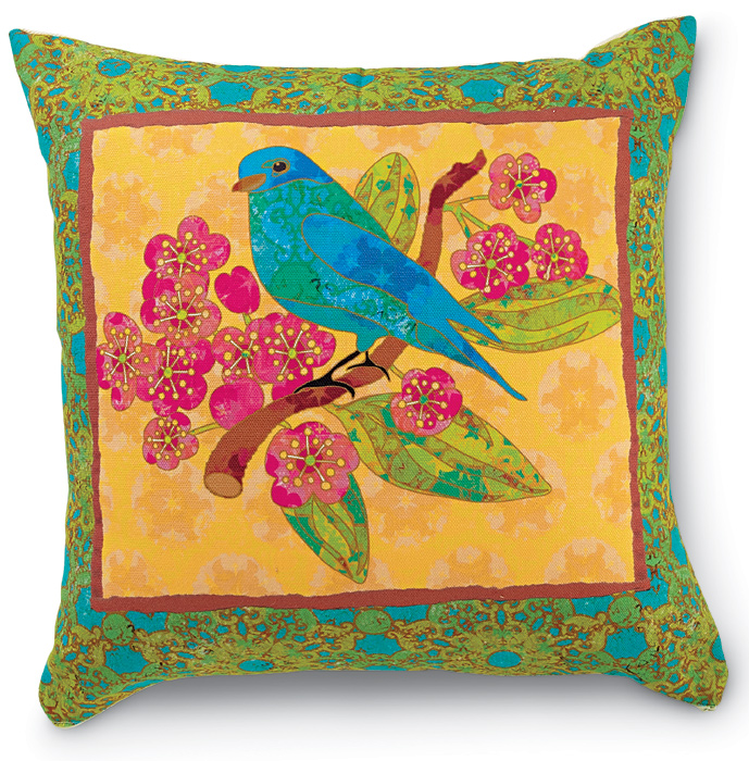 8099: Bird on Gold Pillow (Product Detail)