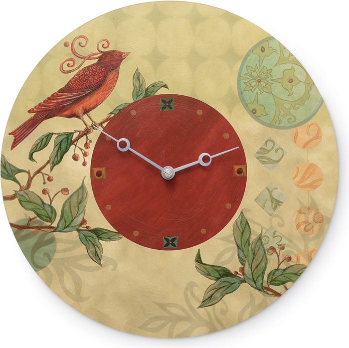 8045: Ugone - Birdscape Wall Clock (Product Detail)