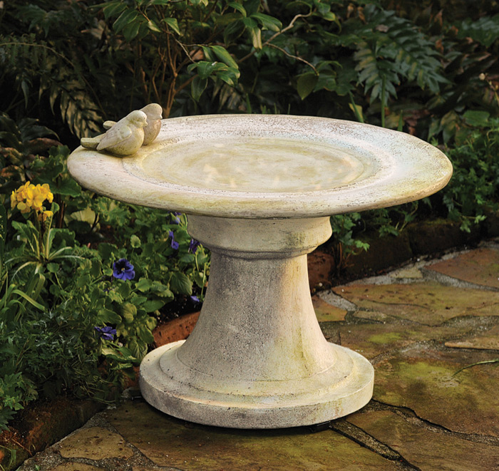 1384: Birdbath with Finches (Product Detail)