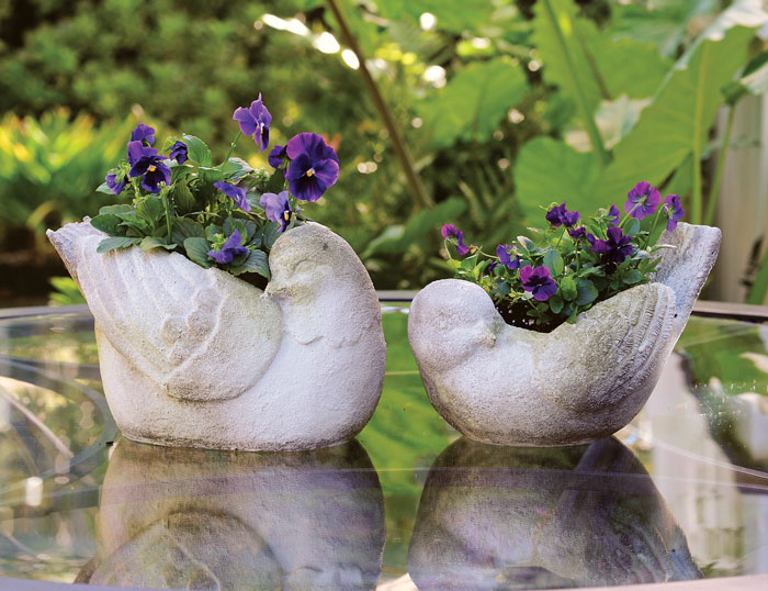 1404: Bird Planters (Set of Two) (Product Detail)