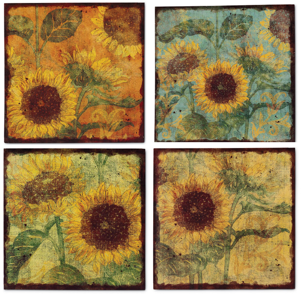 1974: Sunflower Wall Art (Set Of Four) (Product Detail)
