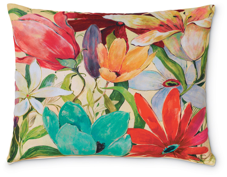 5446: Garden Floral I Pillow (Product Detail)