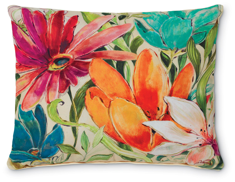 5447: Garden Floral II Pillow (Product Detail)