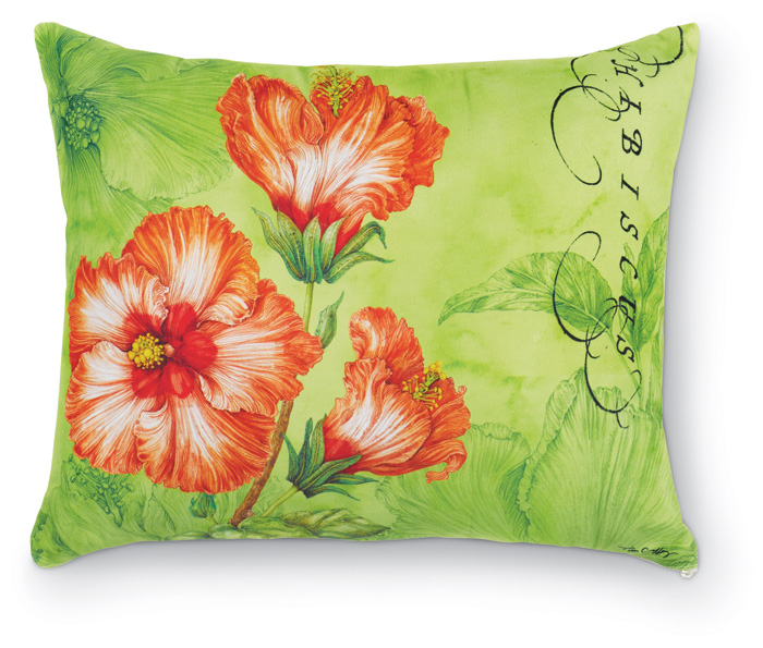 1353: Hibiscus Pillow - Orange (Product Detail)