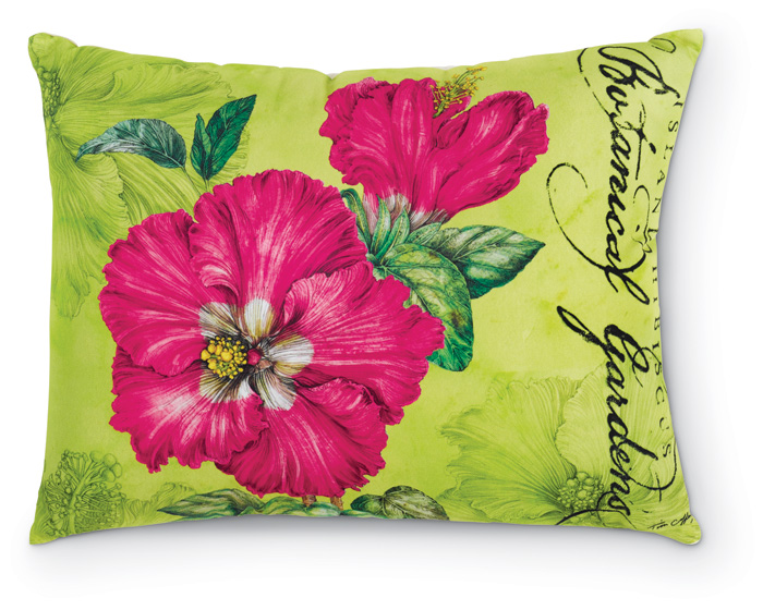 1354: Hibiscus Pillow - Pink (Product Detail)