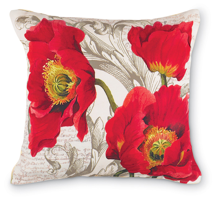 2233: Red Poppy Pillow (Product Detail)