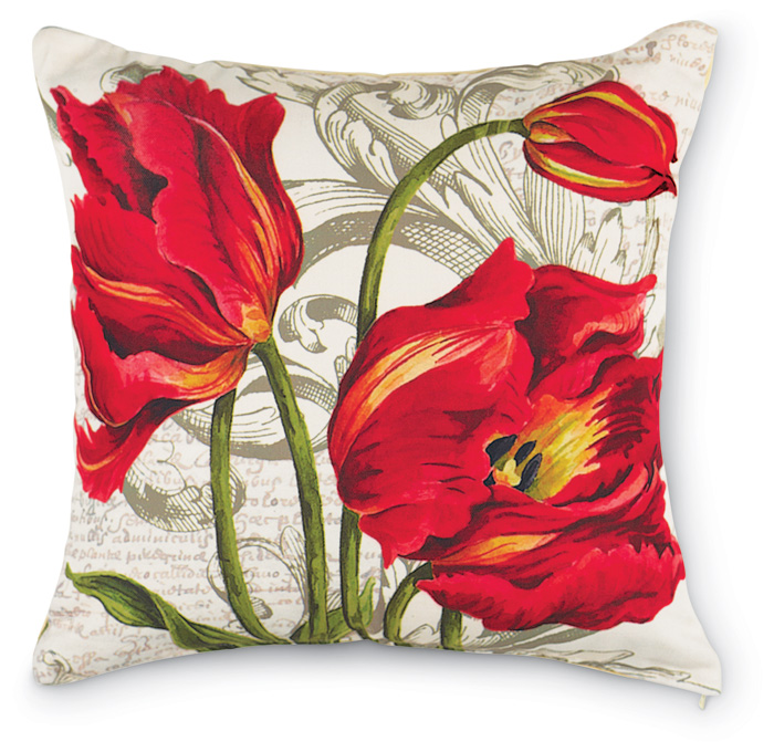 2234: Red Tulip Pillow (Product Detail)