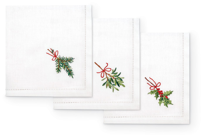 3558: Holiday Napkins (Set of Six) (Product Detail)
