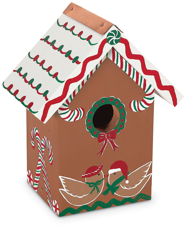 2362: Hand-Painted Gingerbread  Birdhouse (Product Detail)