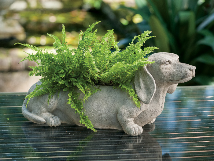 3439: Dachshund Planter (Product Detail)