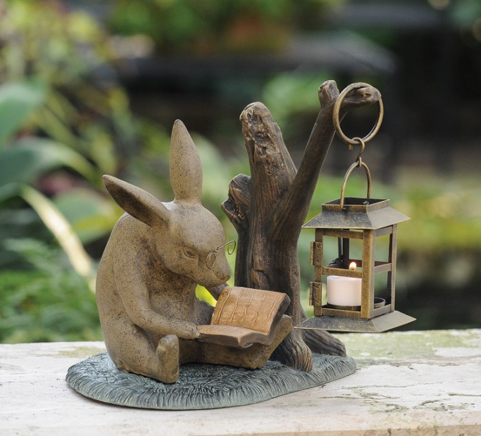 3872: Booklover Bunny with Lantern (Product Detail)