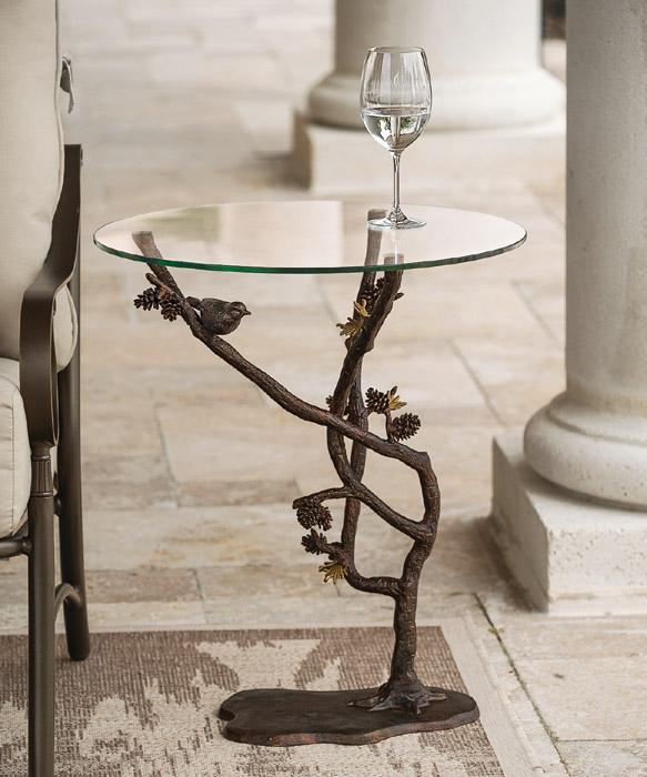 4950: Bird and Pinecones Table (Product Detail)