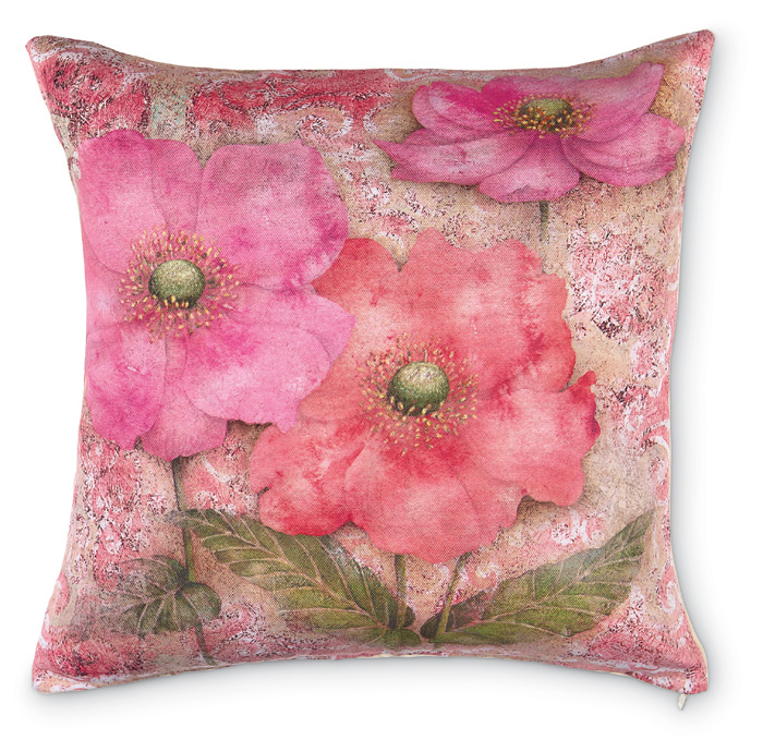 4578: Serene Garden Pillow - Pink (Product Detail)