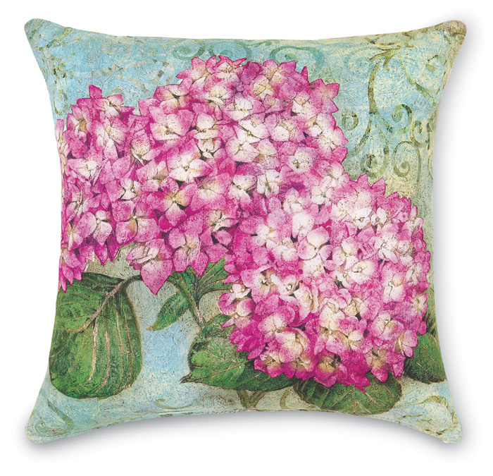 7122: Hydrangea Pillow - Pink (Product Detail)