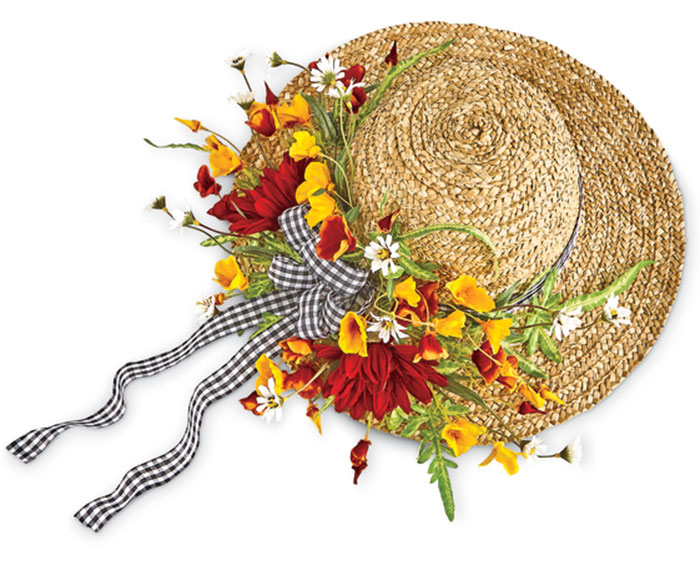 4627: Straw Hat Wall Decor (Product Detail)