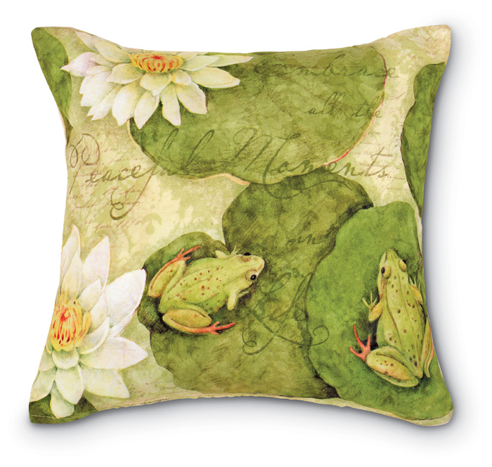 5443: Frogs on Lily Pads Pillow (Product Detail)