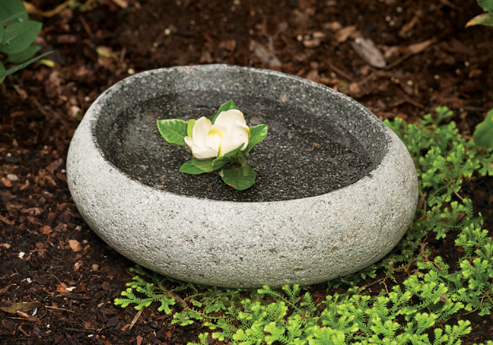 4525: River Stone Birdbath (Product Detail)