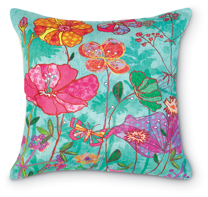 5210: Sea Floral Pillow (Product Detail)