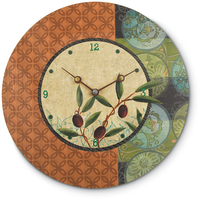 5205: Ugone - Olive Grove Clock  (Product Detail)