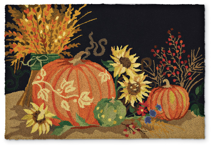 4468: Pumpkins Still Life Rug - SOLD OUT (Product Detail)