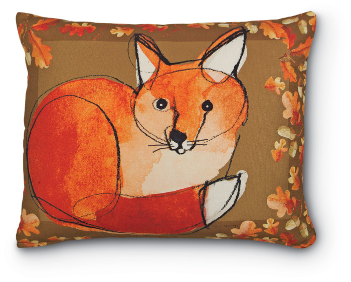5135: Fox and Autumn Leaves Pillow  (Product Detail)