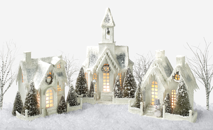 6119:  Winter Lighted Cottages (Set of Two)  (Product Detail)