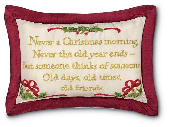 "5203: ""Never A Christmas Morning"" Pillow  (Product Detail)"