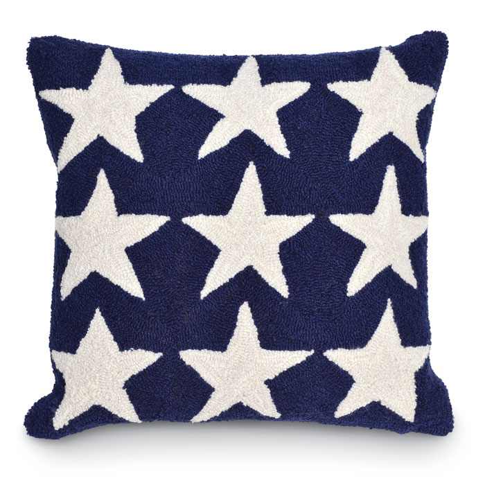 5006: Blue and White Stars Pillow (Product Detail)