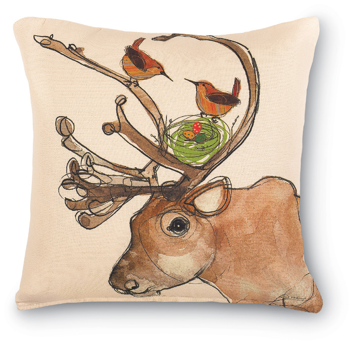 5122: Reindeer with Wrens and Nest (Product Detail)