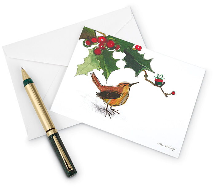4574: Wren Holiday Boxed Cards (Set of 15)  (Product Detail)