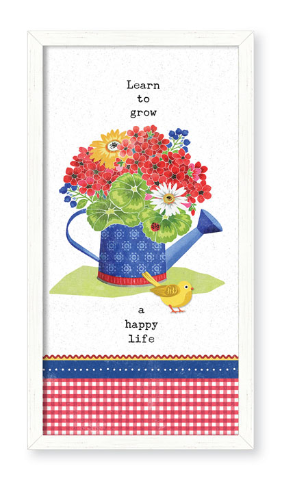 5080: Grow a Happy Life Wall Art (Product Detail)