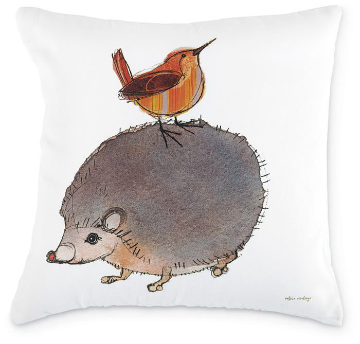 5142: Wren and Hedgehog Pillow (Product Detail)