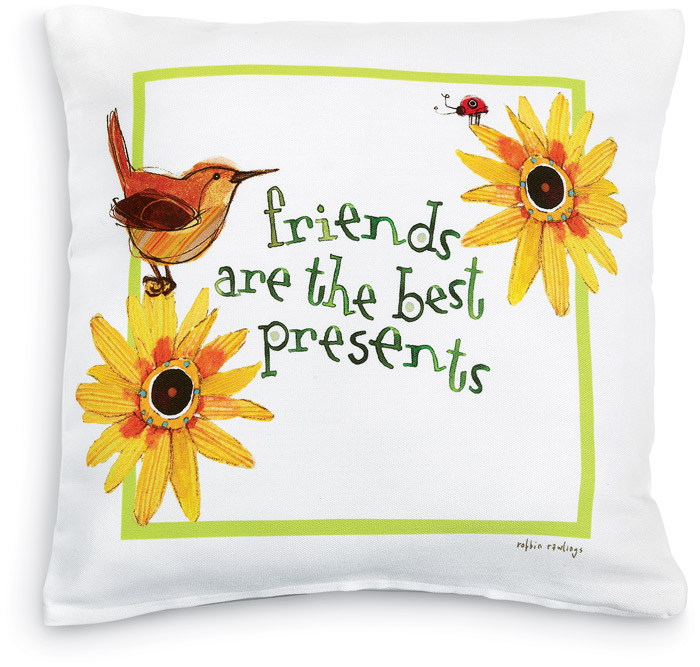 5544: Friends Are The Best Presents Pillow (Product Detail)