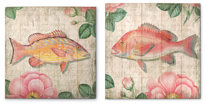 5524: Fish Wall Art (Set of Two) (Product Detail)