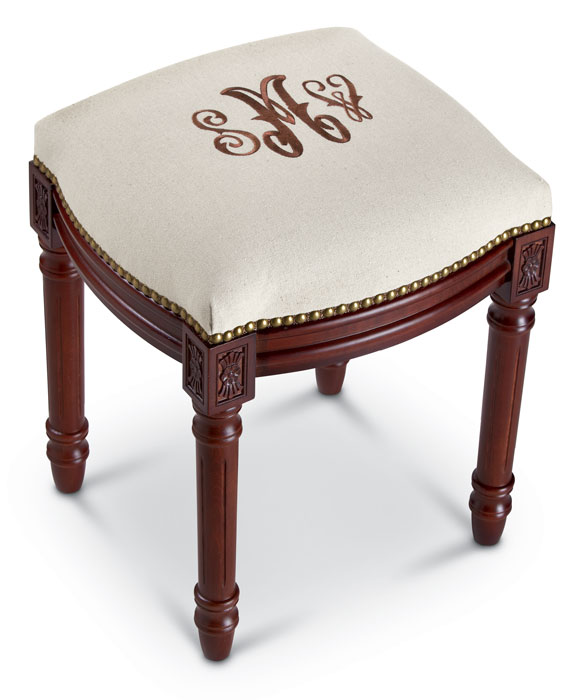 5899: Monogrammed Stool (Product Detail)