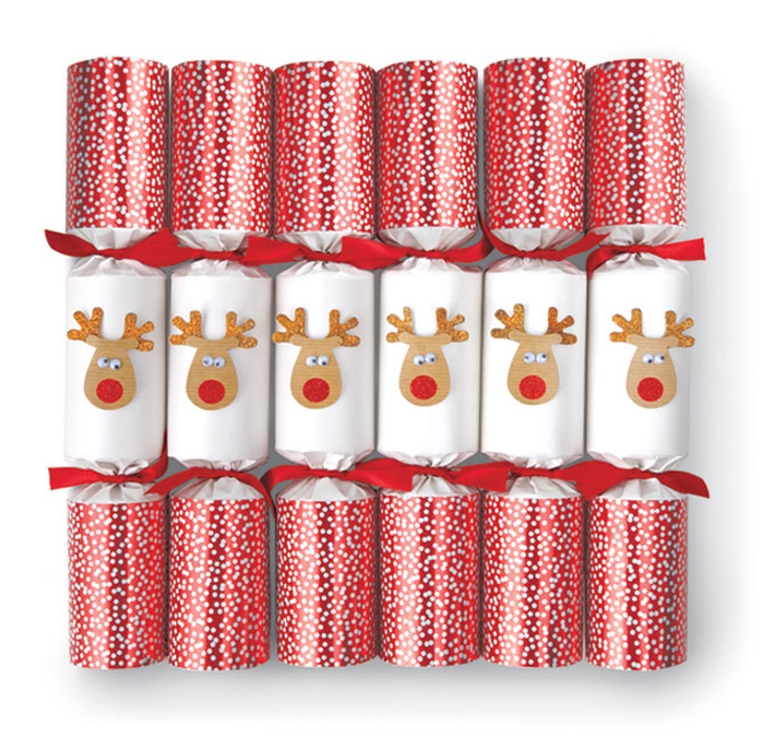 5633: Racing Reindeer Holiday Crackers (Set of Six)  (Product Detail)