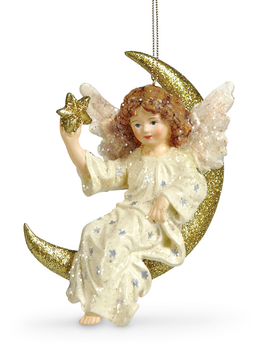 5608: Angel and Moon Ornament  (Product Detail)