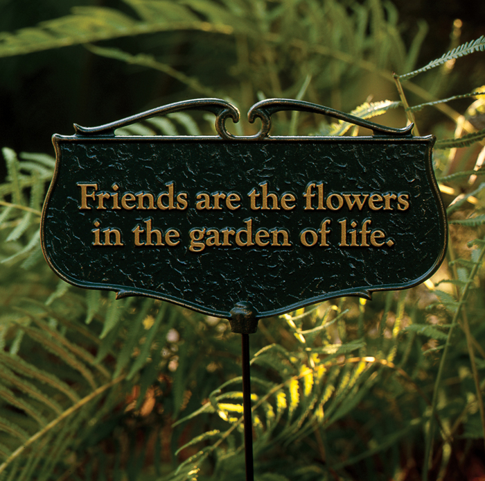 "1920: ""Friends are the Flowers"" Sign (Product Detail)"