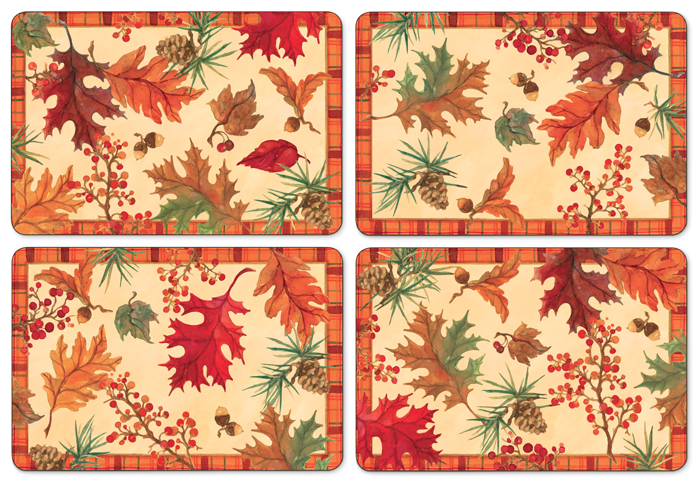 8695: Autumn Leaves Placemats (Set of Four) (Product Detail)