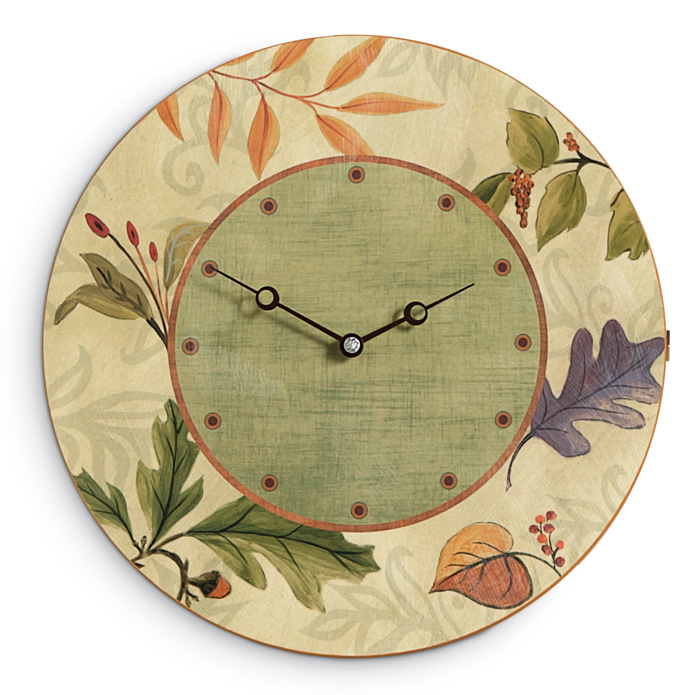5991: Ugone - Autumn Leaves Clock (Product Detail)