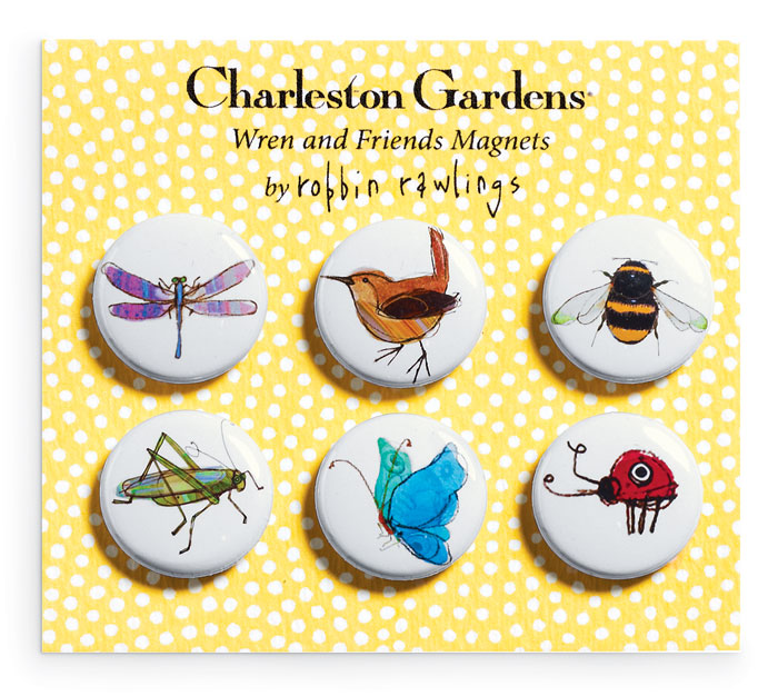 5961: Wren and Friends Magnets (Set of Six) (Product Detail)