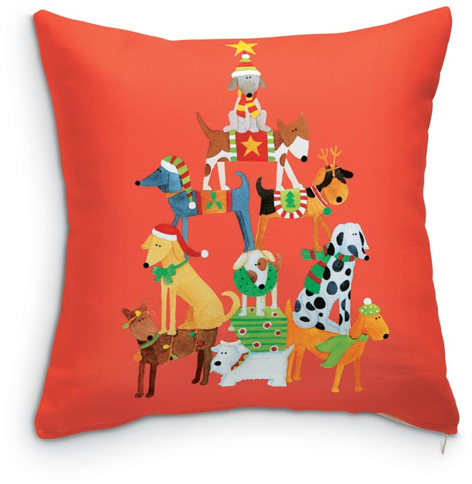 6033: Dogs Pyramid Pillow (Product Detail)