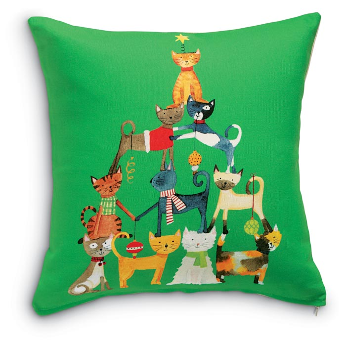6032: Cats Pyramid Pillow (Product Detail)
