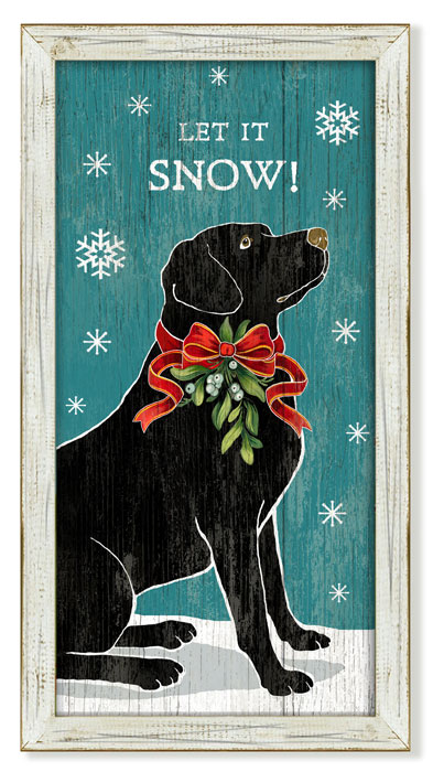 """6180: """"Let It Snow"""" Wall Art (Product Detail)"""