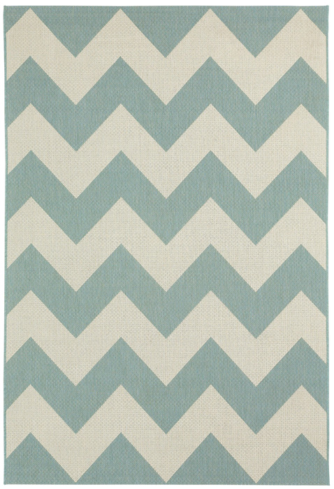 6344: Chevron Rug Blue 3