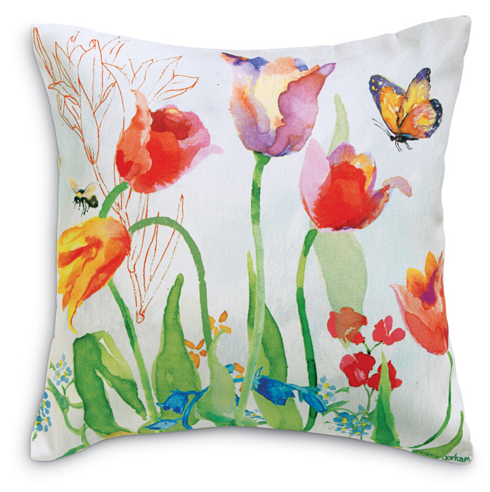 6291: Spring Garden Pillow / Butterfly (Product Detail)