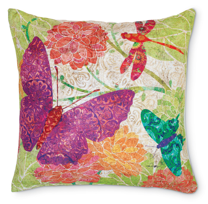 6350: Butterfly Dance Pillow (Product Detail)