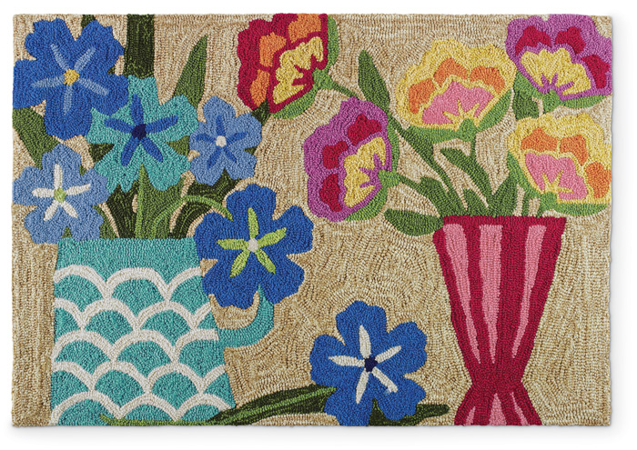 """6232: Floral Still Life Rug 24"""" x 36"""" (Product Detail)"""